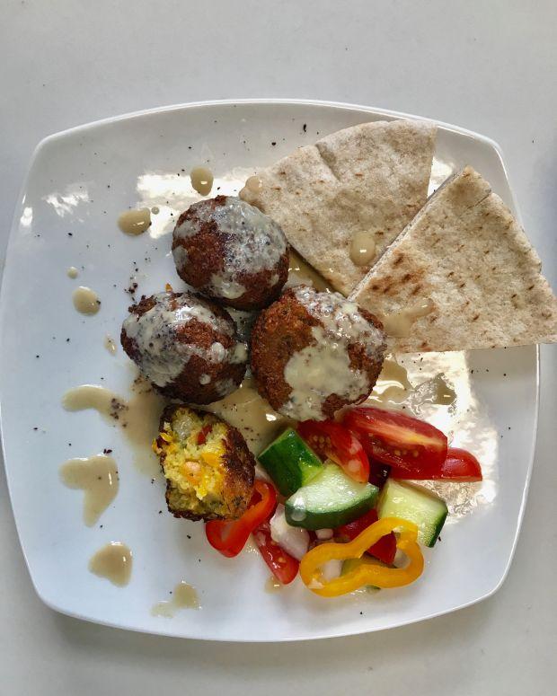 spicy falafel