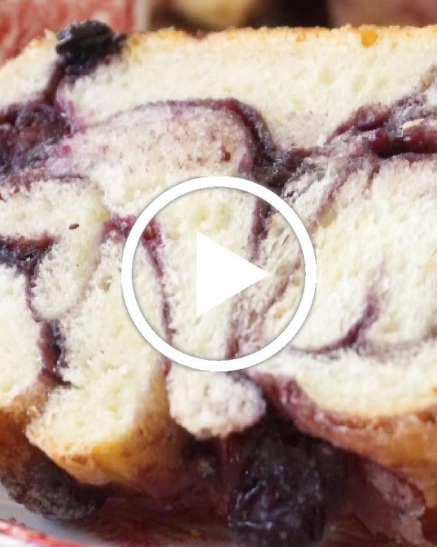 Blueberry Challah Babka Video