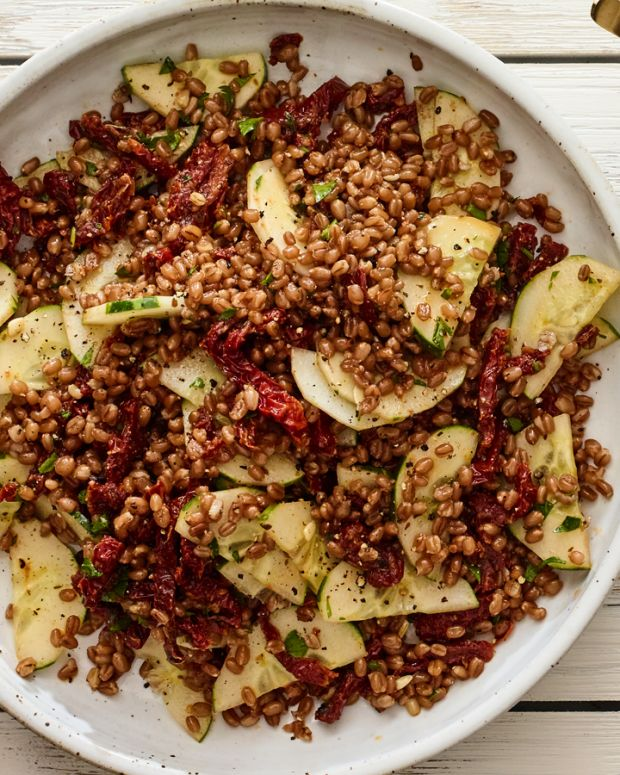 3 ingredient wheatberry salad