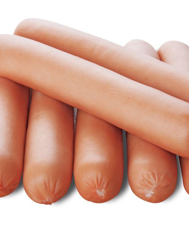Mini hot dog egg rolls
