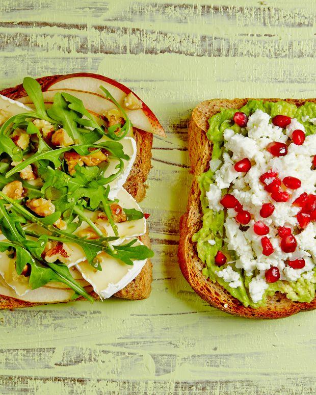 OPEN FACED BREAKFAST SANDWICHES
