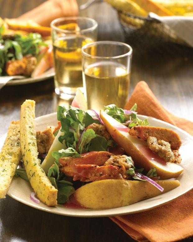 Chicken, Pear, and Arugula Salad