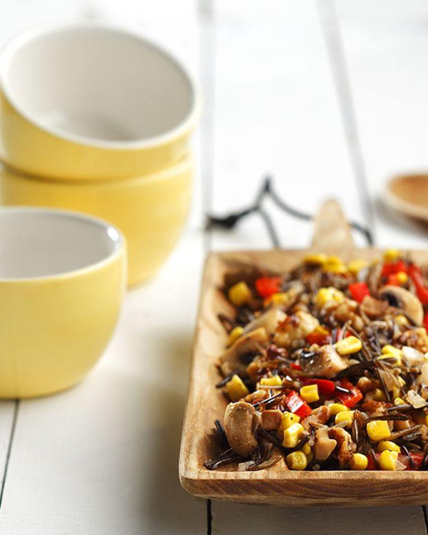 Autumn's Wild Rice Mushrooms Pilaf-Style