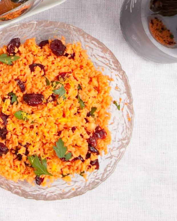 Sweet Potato and Dried Cranberry Salad