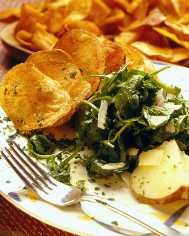 ARUGULA SALAD WITH CRISP IDAHO POTATOES