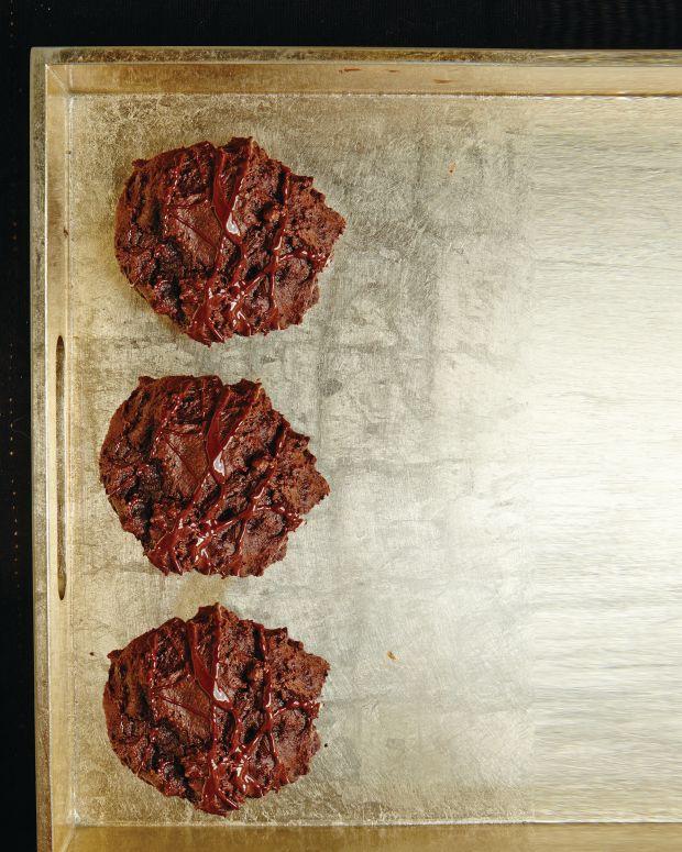 Glazed Mocha Spice Cookies