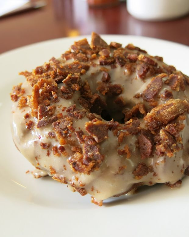Maple Glaze Donut with Beef Bacon