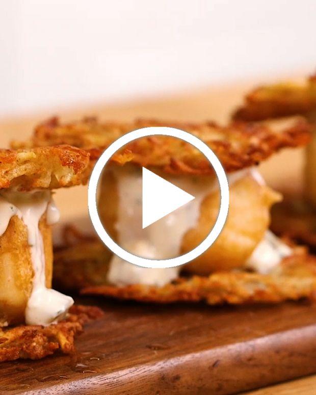 8 Potato Pancake Sliders Video