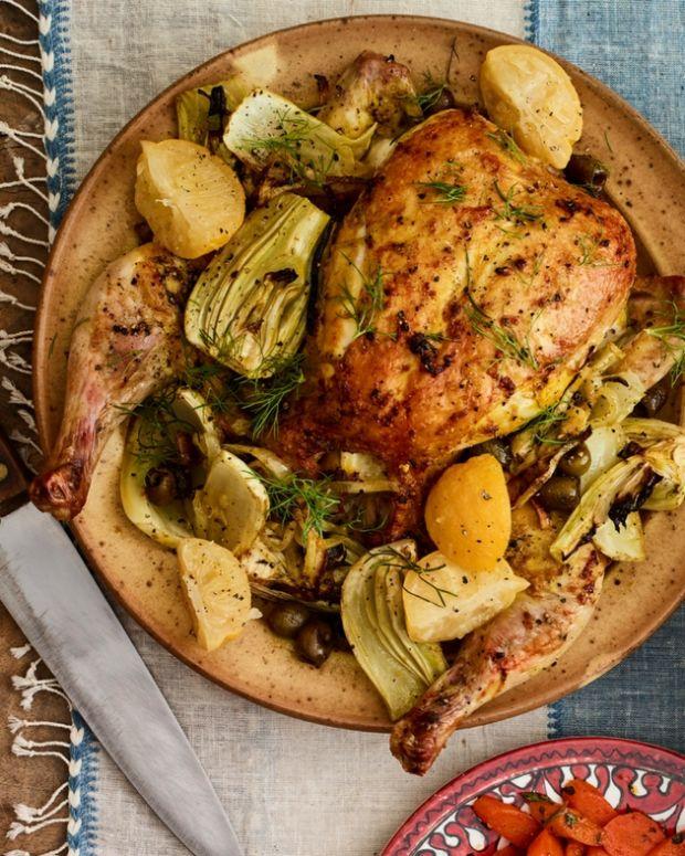 Splayed chicken