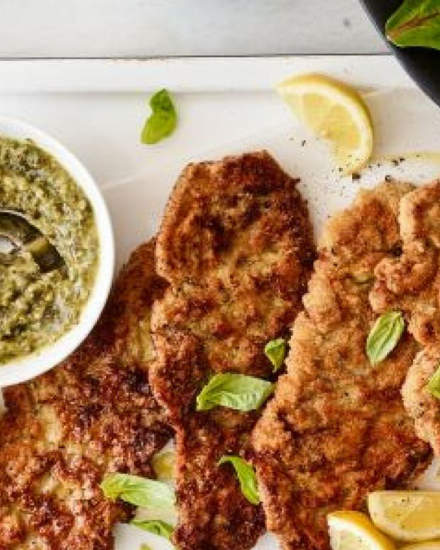veal cutlets with pesto