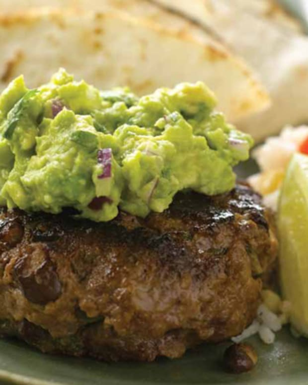 Mexican Burgers with Flour Tortillas