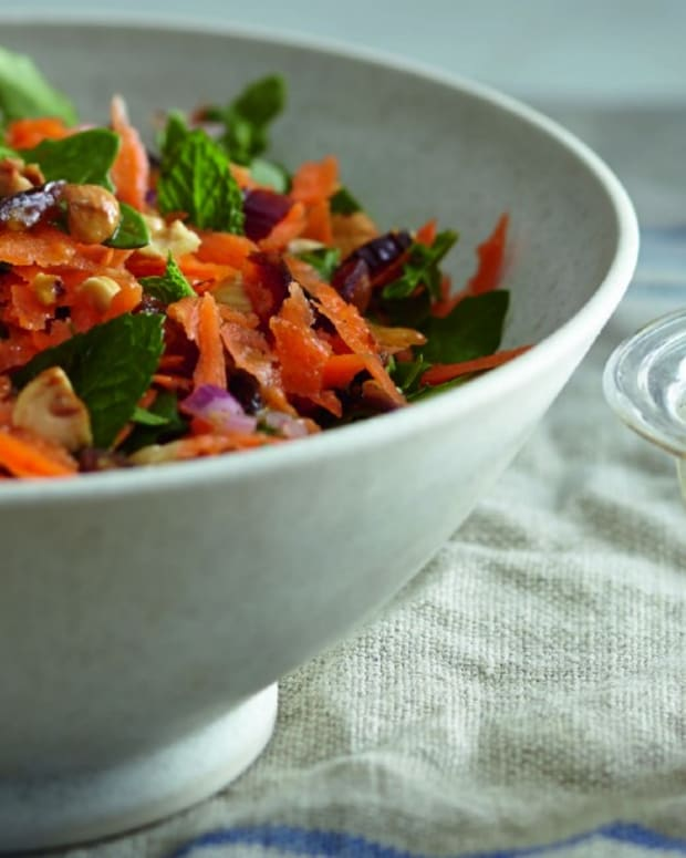 CARROT SALAD WITH MINT AND DATES