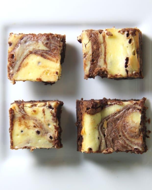 passover fudgy cream cheese brownies