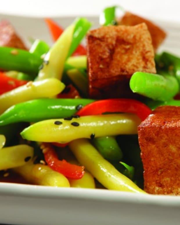 Jeff Nathan's String Bean and Tofu salad with Soy-Wasabi Vinaigrette