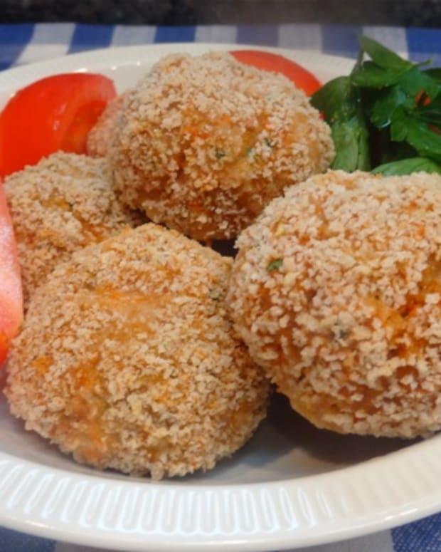 crispy turkey veggie meatballs
