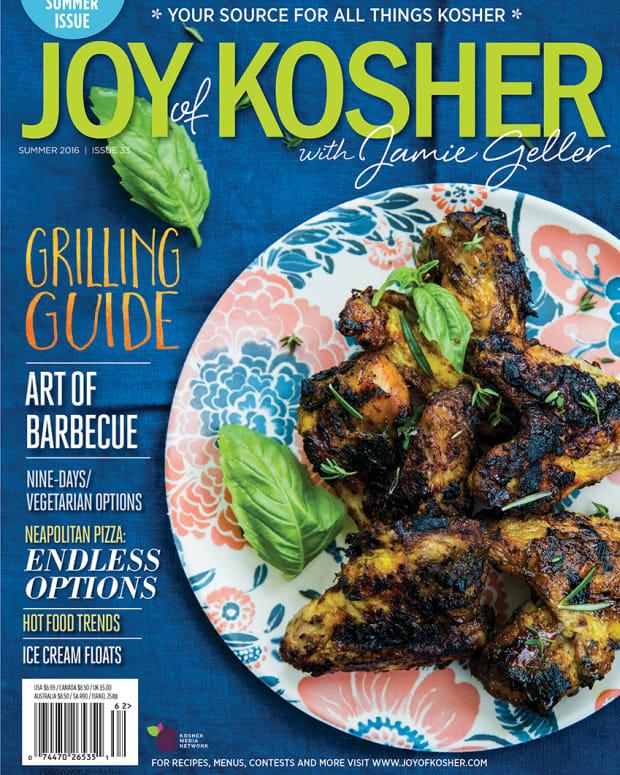 Summer 2016 Cover JOY of KOSHER with Jamie Geller Magazine