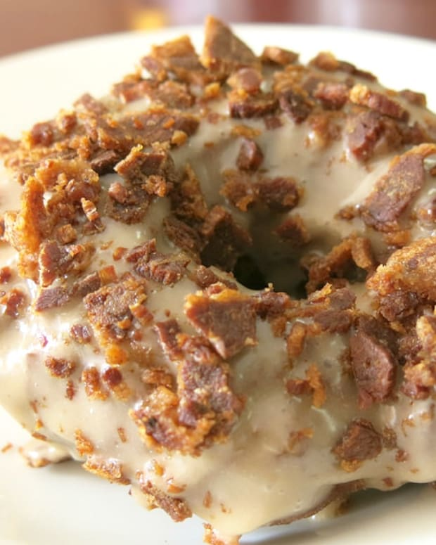 Maple Glazed Beef Bacon Doughnut
