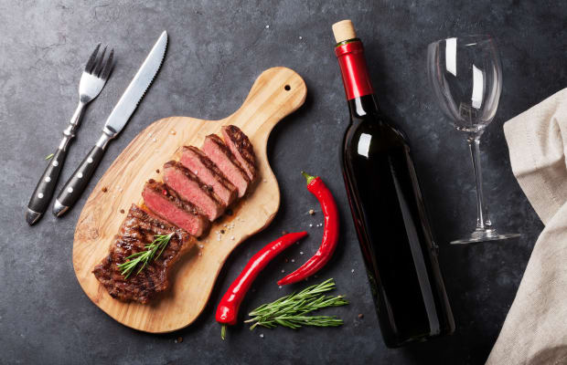 The Best Wine Pairing For Steaks