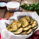 Baked Eggplant Chips with Tzaziki Dip Sabra