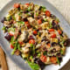 Sheet Pan Eggplant Fattoush Salad