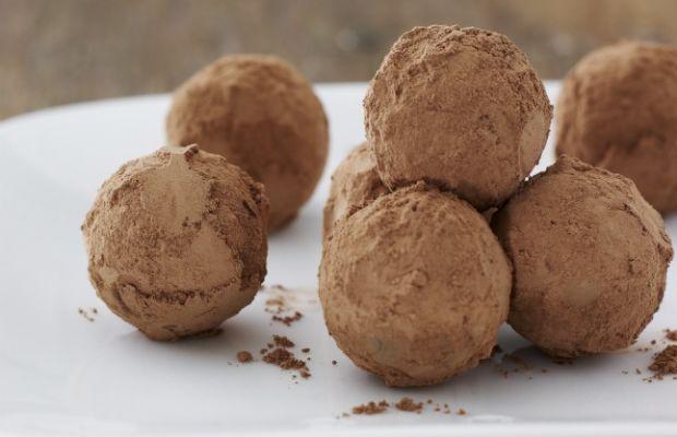 Chocolate-Mango Ganache Truffles