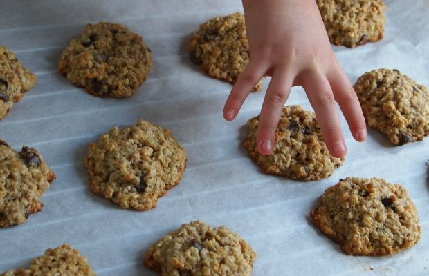 Banana Chocolate Oatmeal Muffin Top Cookies
