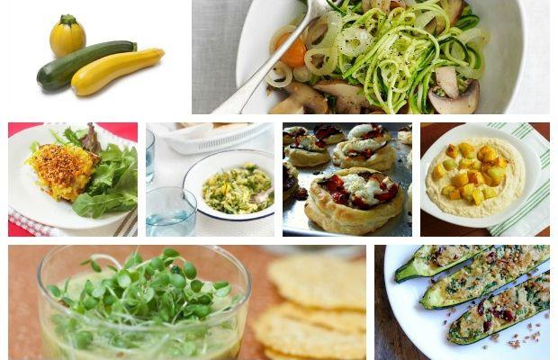 zucchini collage