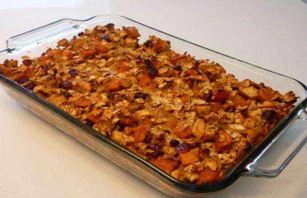sweet potato fruit farfel stuffing
