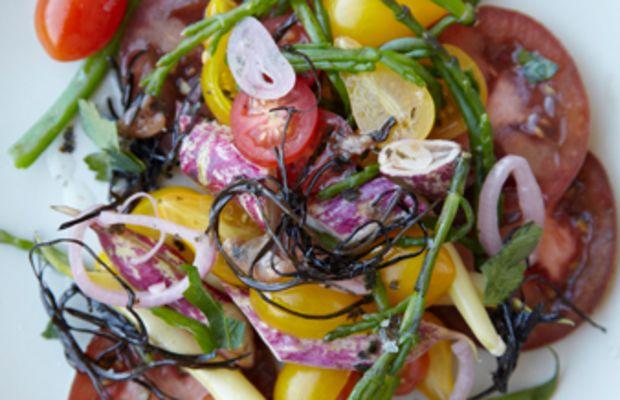 salmon arame salad