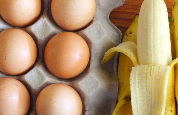 banana and eggs