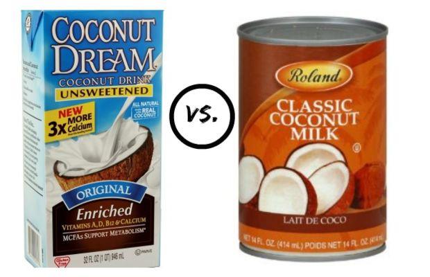 can or carton of coconut milk