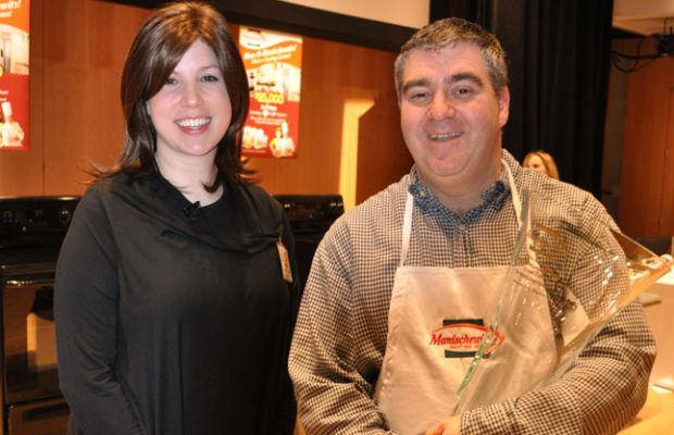 Jamie Geller with Contest Winner Stuart Davis