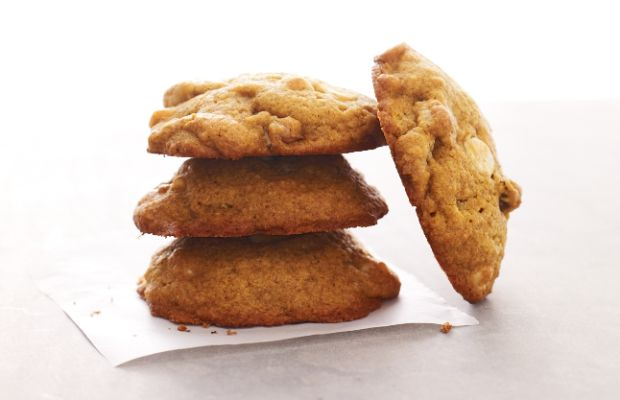 Pumpkin Cookies with White Chocolate Chips and Walnuts