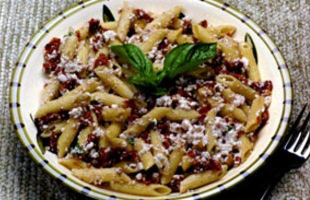Sun-Dried Tomato & Walnuts Tossed with Penne Pasta