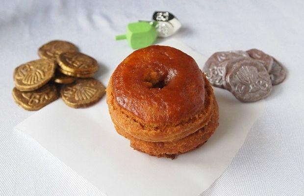 pumpkin donut and chocolate gelt