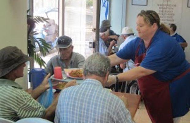 Serving at soup kitchen(1)
