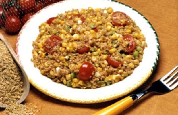 Toasted Corn & Bulgur Salad