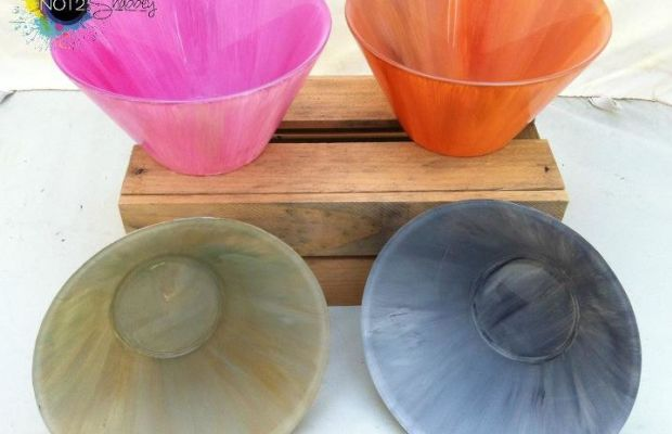distressed bowls