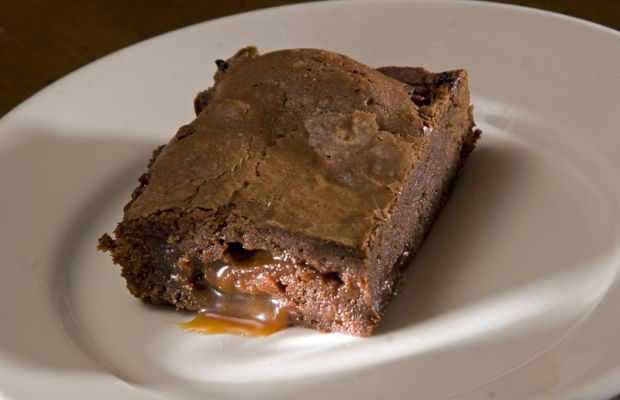 Mocha Brownie with Mocah Caramel Center
