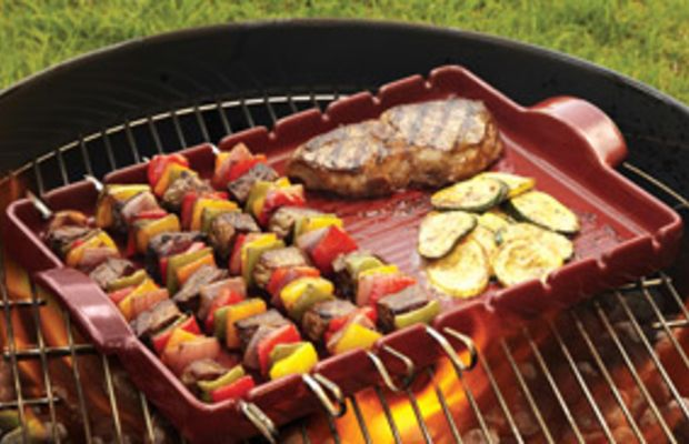 emile henry red kabob tray for the grill