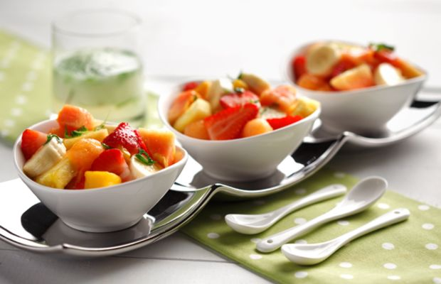 Fruit Salad with Mojito Dressing