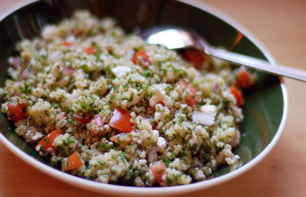 Green Onion Quinoa Tabbouleh