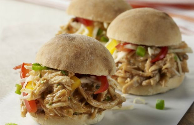 Pulled Chicken Sliders with Mango Barbecue Sauce