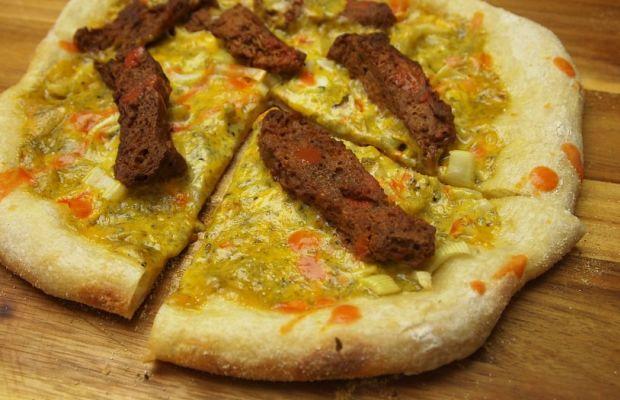 Buffalo Wing Kosher Pizza