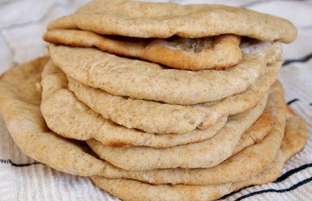 No Knead Whole Wheat Pita