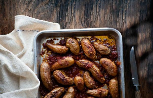 Matbucha Potatoes