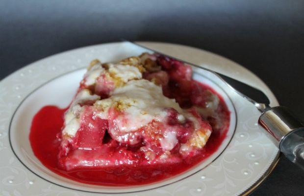 Raspberry Rhubarb Slab Pie