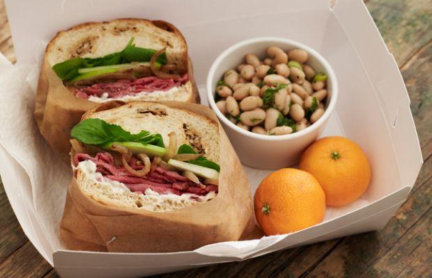 Roast Beef Sandwiches White Bean Salad