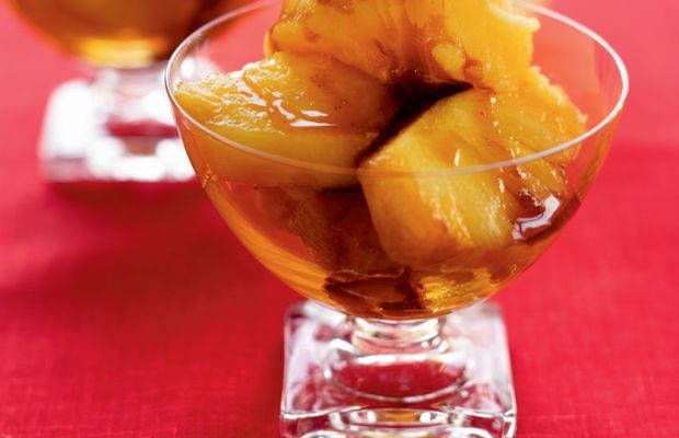 Roasted Pineapple with Pineapple sorbet