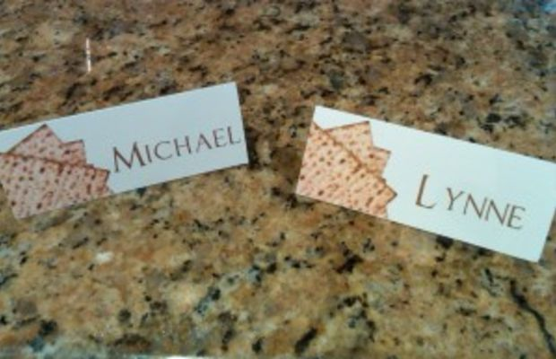 Place cards Passover,